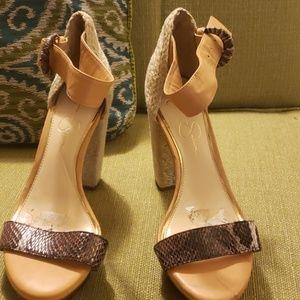 Jessica Simpson Snake skin & Esperdrilles Heels